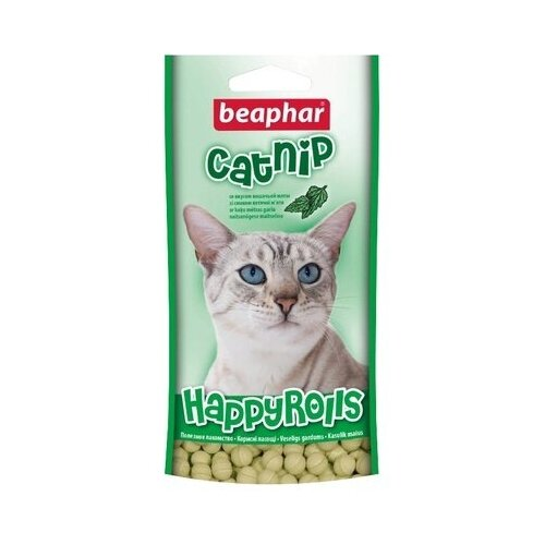 Beaphar лакомство для кошек, с кошачьей мятой 80 таб (2 шт)