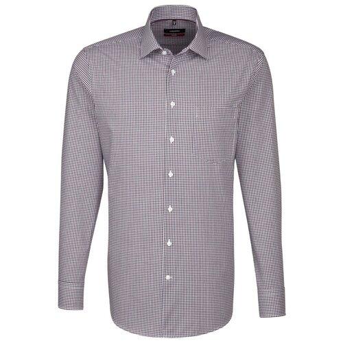 Рубашка Seidensticker 113490 размер 44 белый/бордовый/голубой