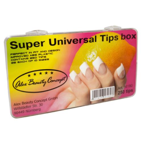 Купить Типсы Alex Beauty Concept SUPER UNIVERSAL TIPS BOX (250 ШТ)