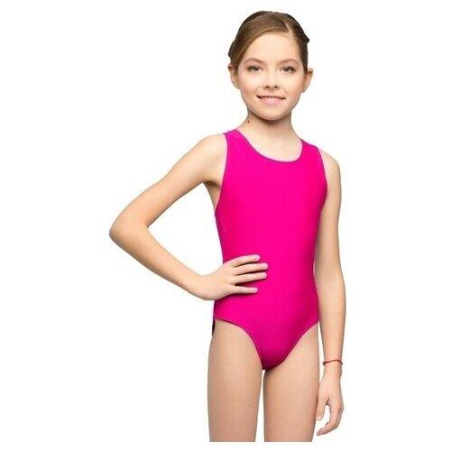 Купальник для плавания детский слитный К 48-011-3260 32 Фуксия купальник слитный speedo boom alov msbk af цвет фиолетовый фуксия 8 10818c265 c265 размер 38 50 52