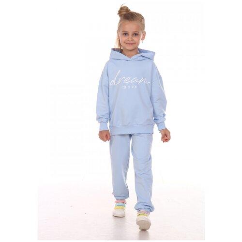 Спортивный костюм Милаша размер 140, голубой