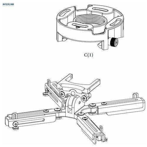 Фото - Wize PR-UNV-S Универсальное крепление для проектора, наклон +/- 25°, поворот +/- 6°, вращение 360°, 8 см, до 23 кг, серебристое. Макс. VESA 380x380 ложка для мороженного gipfel 21 6 2 8 см