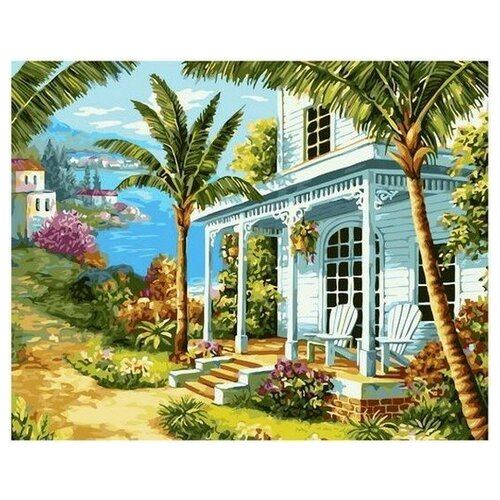 Купить Картина по номерам на холсте Paintboy Дом на море , 40х50 см, GX-38999, Картины по номерам и контурам