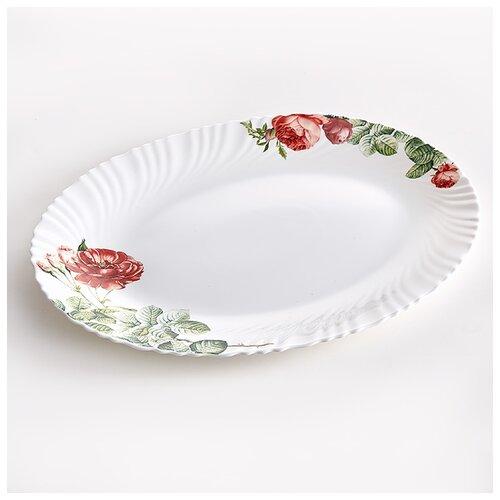 Фото - 0001L1/63-SK Блюдо овальное 35,5см Дикая роза  салатник teropal 0001d9 50 sk asti 21 5 см