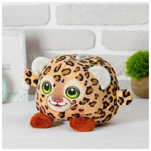 Купить Мягкая игрушка-копилка Леопард со звуком, Сима-ленд, Мягкие игрушки