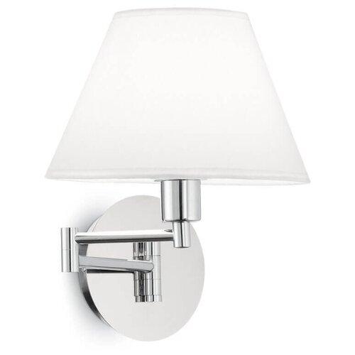 Настенный светильник IDEAL LUX Beverly Cromo Beverly AP1 Cromo, E14, 40 Вт настенный светильник ideal lux neve ap3 cromo