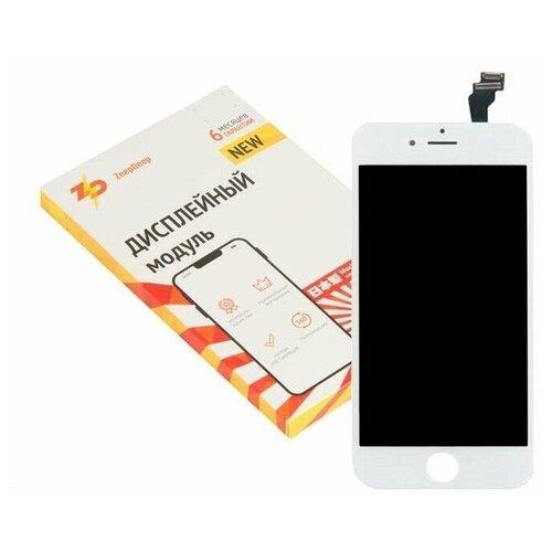 Дисплей для iPhone ( айфон ) 6 в сборе с тачскрином и монтажной рамкой ZeepDeep PREMIUM , белый