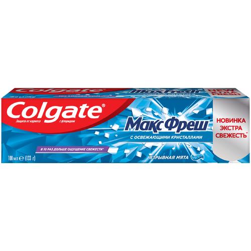 Зубная паста Colgate Макс Фреш Взрывная Мята освежающая, 100 мл