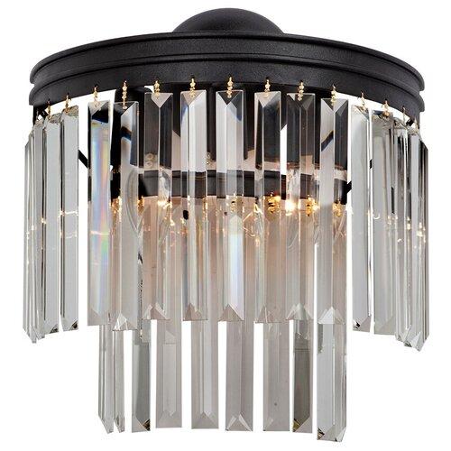 Настенный светильник Vitaluce V5150-1/3A, E14, 180 Вт, кол-во ламп: 3 шт., цвет арматуры: черный настенный светильник vitaluce v1115 3a 180 вт