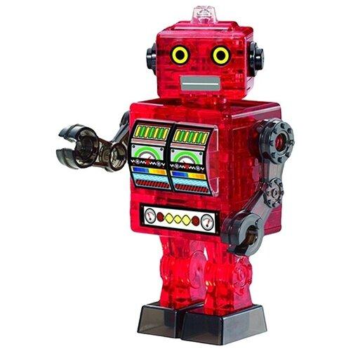Фото - 3D-пазл Crystal Puzzle Робот красный (90151), 39 дет. 3d пазл crystal puzzle дельфин 91004 95 дет