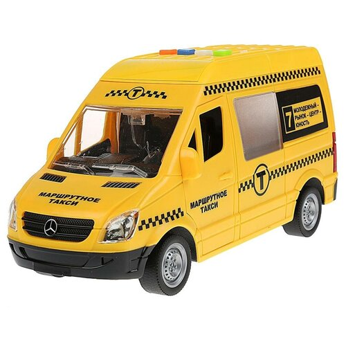 Микроавтобус ТЕХНОПАРК Mercedes-Benz Sprinter такси (SPRINTER-22PL-TAX), желтый микроавтобус технопарк mercedes benz sprinter реанимация sprinter 22pl rean 22 см желтый