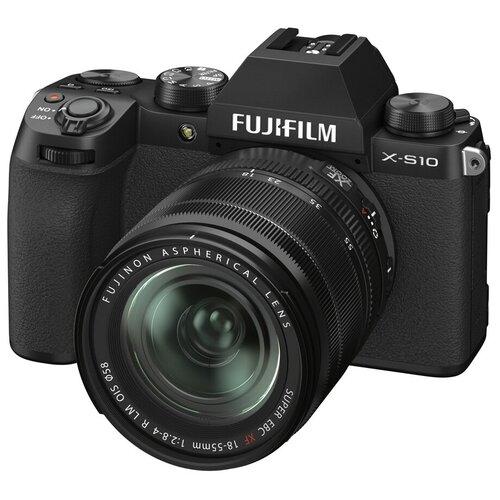 Фото - Фотоаппарат Fujifilm X-S10 Kit черный Fujifilm XF 18-55mm F2.8-4 R LM OIS цифровой фотоаппарат fujifilm x pro3 body dr silver