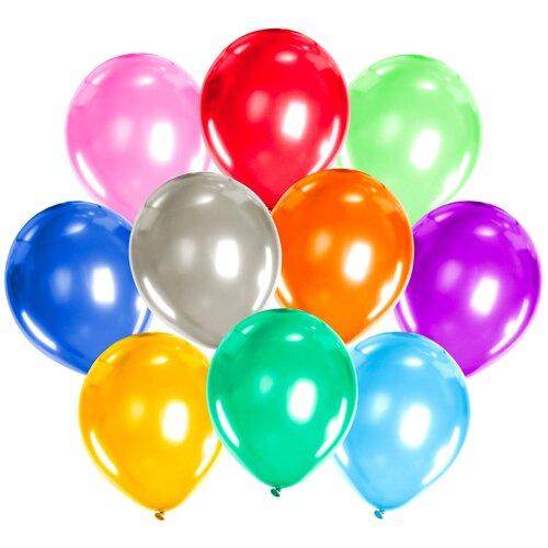 Набор воздушных шаров Золотая сказка Металлик 105002 (50 шт.) набор воздушных шаров miraculous металлик 100 шт синий
