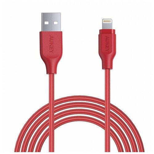 Кабель Aukey USB - Lightning (CB-AL2) 2 м, красный