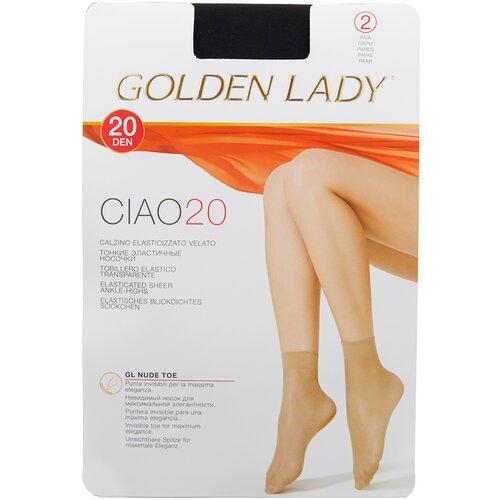 Капроновые носки Golden Lady Ciao 20 Den, 2 пары, размер 0 (one size), nero