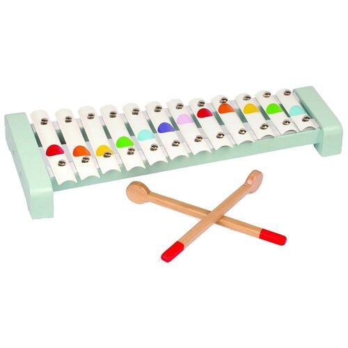 каталки игрушки janod на веревочке ксилофон sweet cocoon Janod ксилофон Конфетти 12 нот J07604 голубой