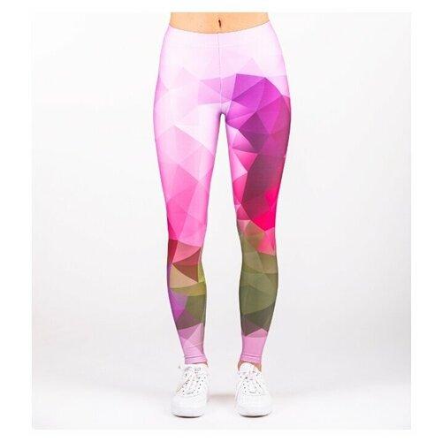Леггинсы Mr. Gugu & Miss Go спортивные для фитнеса Фиолетовый Геометрический узор XS