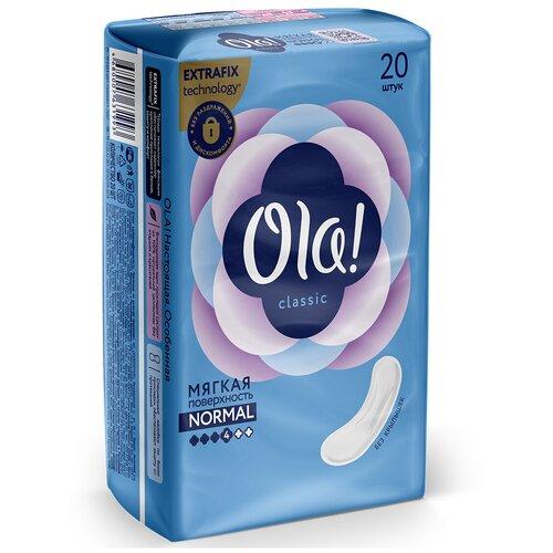 Фото - Ola! прокладки Classic Normal Мягкая поверхность Без крылышек, 4 капли, 20 шт. ola прокладки ultra normal шелковистая поверхность 4 капли 10 шт