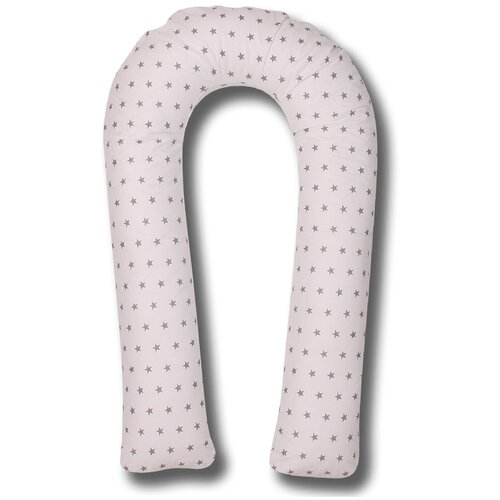 Фото - Подушка Body Pillow для беременных U холлофайбер, с наволочкой из хлопка белый в серых звездах подушка body pillow для беременных u холлофайбер с наволочкой из хлопка коричневый с бежевыми вензелями