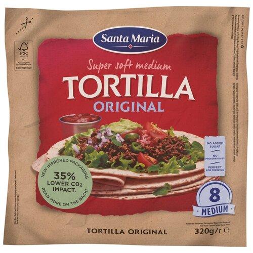 Santa Maria Тортилья пшеничная Original Super Soft medium, 8 шт./уп., 320 г