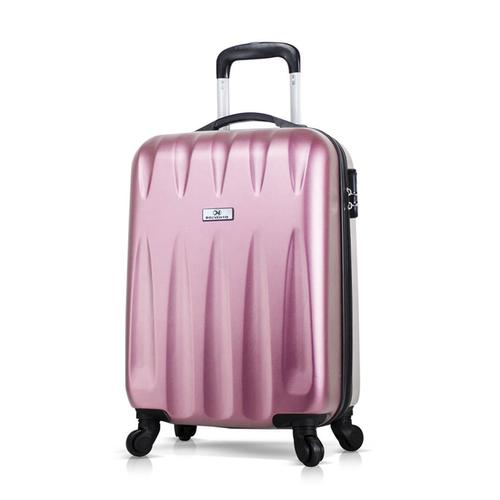 Чемодан пластиковый с колесами DELVENTO Best розовый, маленький размер