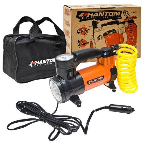 Автомобильный компрессор PHANTOM РН2033 оранжевый