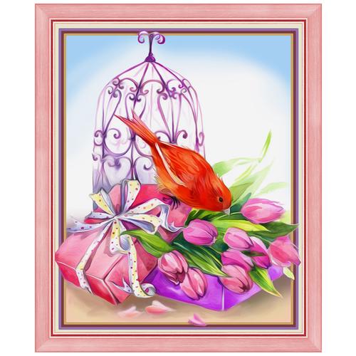 Фото - Алмазная живопись Набор алмазной вышивки Изящный презент (АЖ-1477) 24х30 см алмазная живопись набор алмазной вышивки дружные синички аж 1475 24х30 см