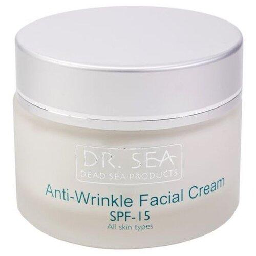 Купить Dr. Sea Anti-Wrinkle Facial Cream SPF 15 крем для лица против морщин с экстрактом Дуналиеллы и минералами Мертвого моря, 50 мл
