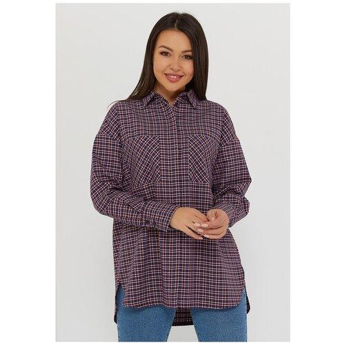 Рубашка Katharina Kross, размер 52-54, синий/бордовый