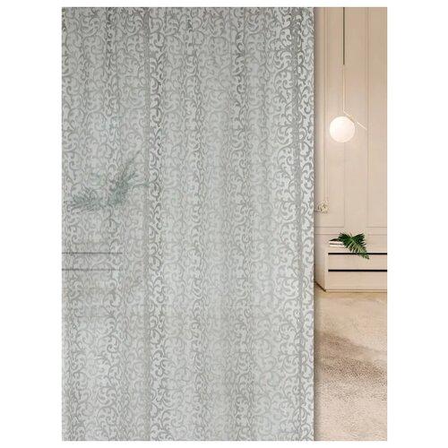 Тюль ТД Текстиль 95180 на ленте 270 см серый портьеры тд текстиль канвас на ленте 280 см 1 шт синий
