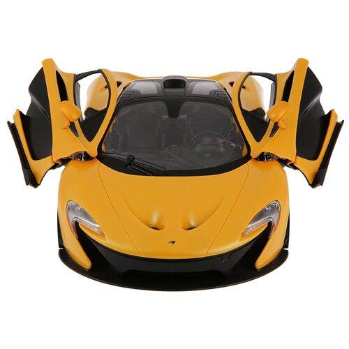 Легковой автомобиль Rastar Mclaren P1 (75110) 1:14 32 см желтый/черный легковой автомобиль rastar land rover discovery 3 21900 1 14 черный