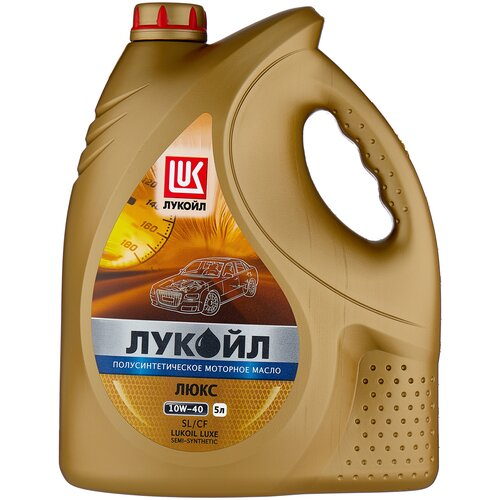 Полусинтетическое моторное масло ЛУКОЙЛ Люкс полусинтетическое SL/CF 10W-40 5 л