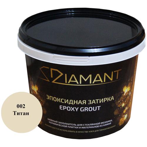 Затирка Живая краска Диамант 1 кг 002 титан недорого