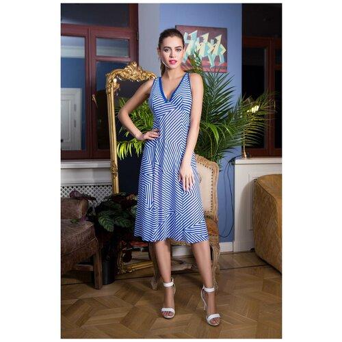 Пляжное платье Mia-Mia, размер S(44), синий/белый