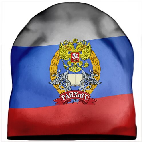 Шапка мужская РАНХиГС Лого на триколлоре