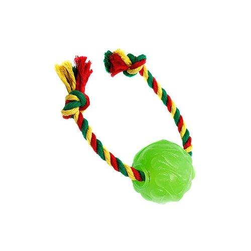Doglike виа мяч космос с канатом dental knot (зеленый) d12-3901-gr, 0,110 кг, 36729