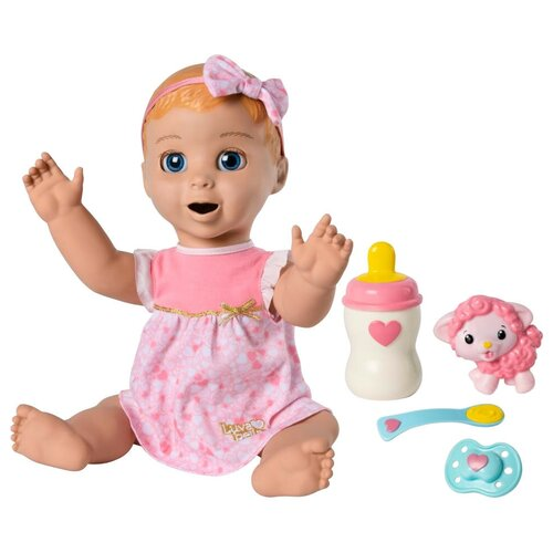 spin master кукла spin master off the hook вивиан летние каникулы с аксессуарами Интерактивная кукла Spin Master Luvabella Blonde Hair, 6040744
