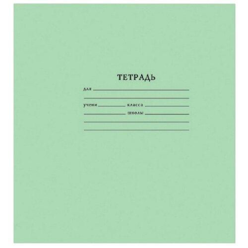 Тетрадь школьная А5,12л,узкая линия,10шт/уп зелёная Брянск 3 штуки