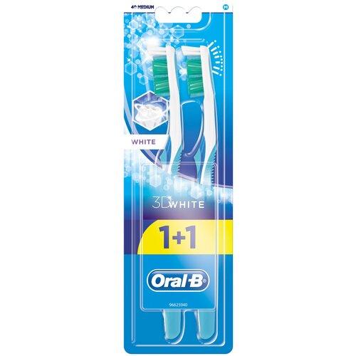 Зубная щетка Oral-B 3D White отбеливание: средней жесткости, в ассортименте, 2 шт.