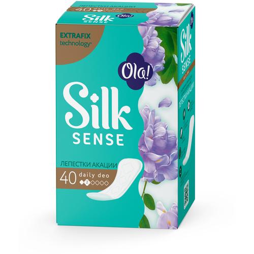 Купить Ola! прокладки ежедневные Silk Sense Daily Deo Лепестки Акации, 2 капли, 40 шт.