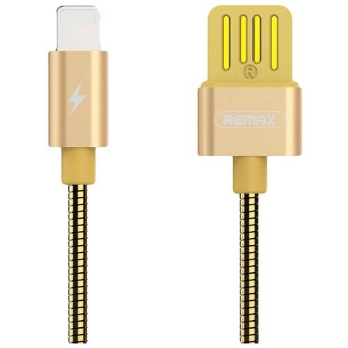 Кабель Remax Tinned Copper USB - Apple Lightning (RC-080i) 1 м, золотой кабель remax kerolla usb apple lightning rc 094i 1 м белый