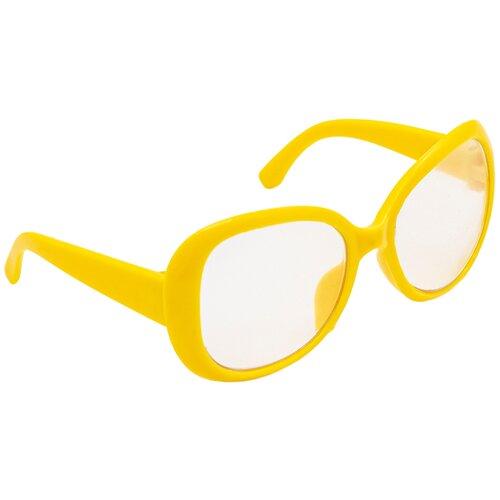 Купить 26504 Очки со стеклом, пластик, 8, 5 см, 1шт (желтый), SOVUSHKA, Одежда для кукол