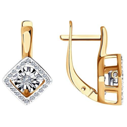 Diamant Серьги из комбинированного золота с бриллиантами 51-220-01265-1