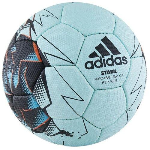 Мяч для гандбола adidas Stabil Replique (CD8588) голубой/черный