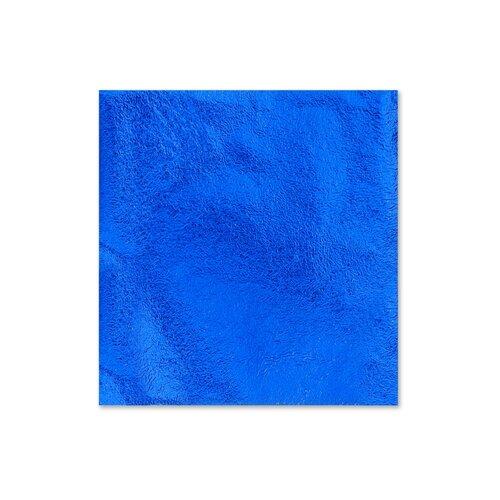 Поталь для золочения в листах 8,5 X 8,5 см 5 листов Синий