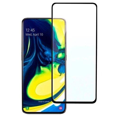 Полноэкранное защитное стекло для Samsung Galaxy A80 и Galaxy A90 Full Glue Full Screen / Защитное стекло для Самсунг Галакси А80 и Галакси А90 / 3D Полная проклейка экрана (Черный)