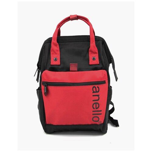 Сумка-рюкзак ANELLO 1104, Черно-красный