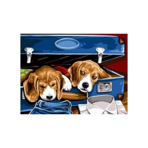 Купить Картина по номерам Paintboy «Помощники» (холст на подрамнике, 30х40 см), Картины по номерам и контурам
