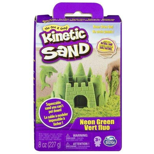 Kinetic Sand Кинетический песок набор для лепки 240 г (зеленый)