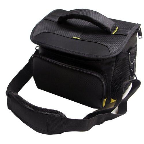 Фото - Чехол-сумка для MyPads TC-1230 фотоаппарата Nikon D5500/ COOLPIX B500/ B700/L105 из качественной износостойкой влагозащитной ткани черный чехол бокс mypads tm 533 для фотоаппарата nikon coolpix s6300 s6400 s6600 из высококачественного материала зеленый